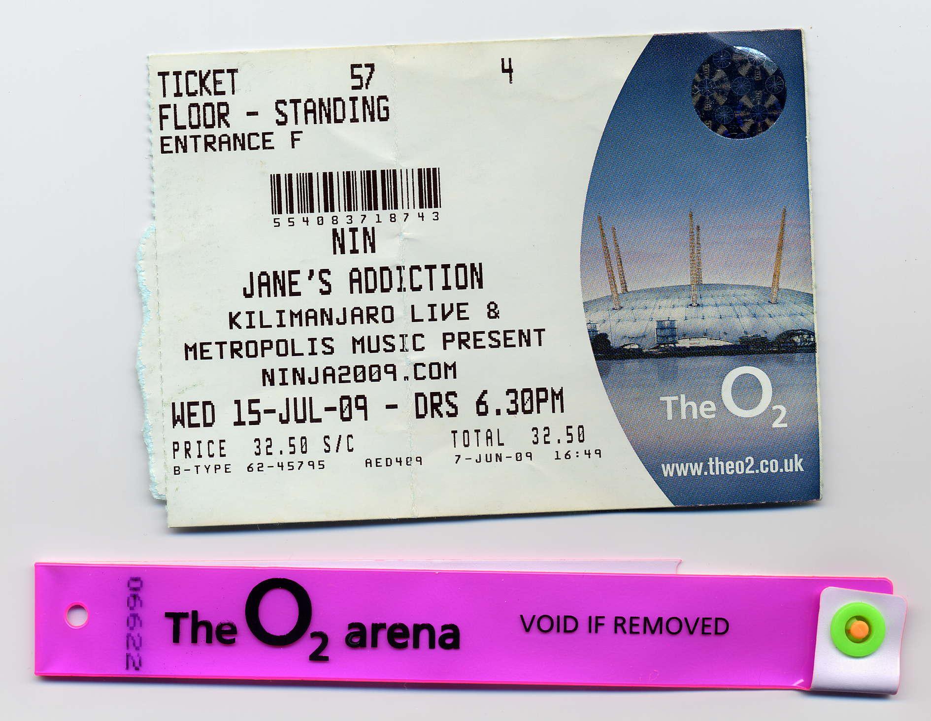 Janes Addiction, Nine Inch Nails, Mew, @ O2 Arena, London 15-7-09 ...