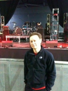 HRAOR in front of stage